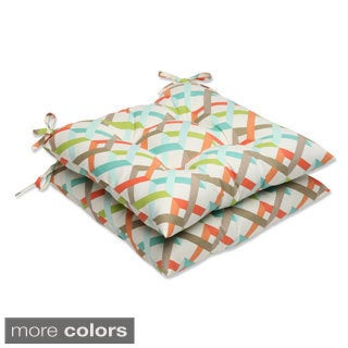 Outdoor Parallel Play Geometric Wrought Iron Seat Cushion (Set of 2)