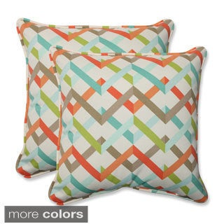 Outdoor Parallel Play 18.5-inch Square Throw Pillow (Set of 2)