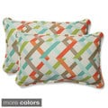 Outdoor Parallel Play Rectangular Throw Pillow (Set of 2)