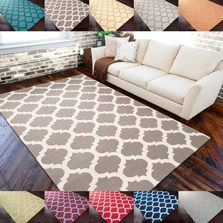 Hand-woven Rwanda Moroccan Trellis Reversible Flatweave Wool Area Rug (3'6 x 5'6)