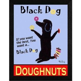Ken Bailey 'Black Dog Doughnuts' Framed Wall Art