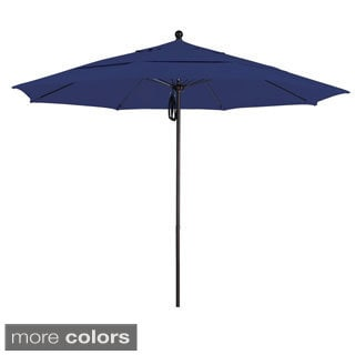 Commercial Grade 11-foot Aluminum Umbrella with Sunbrella Fabric
