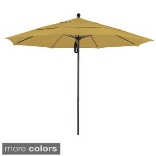 Commercial Grade 11-foot Aluminum Sunbrella Fabric Umbrella