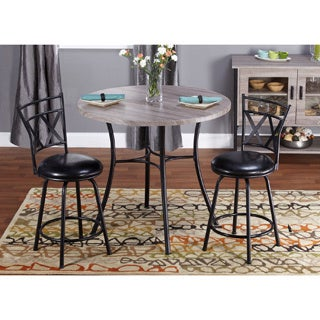 Simple Living 3-piece Seneca Adjustable Height Dining Set