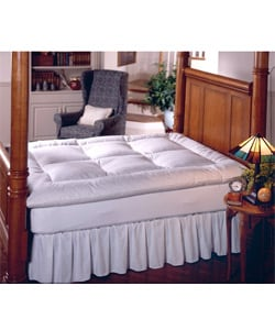 Overfilled 230 Thread Count Cotton Baffle-box Extra Warm Featherbed