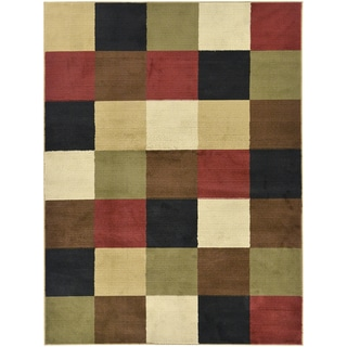 Contemporary Boxes Design Multicolor Area Rug (7'10 x 9'10)