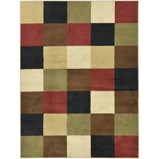 Boxes Multicolor Area Rug (7'10 x 9'10)