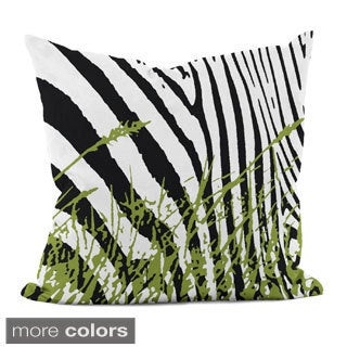 16x16-inch Animal/ Grass Print Decorative Pillow