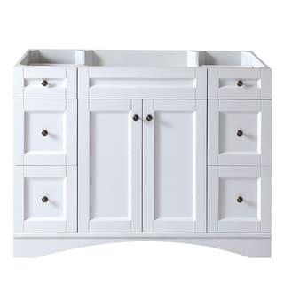 Virtu USA Elise 48-inch White Single-sink Cabinet Only Bathroom Vanity