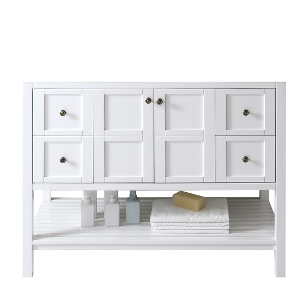 Virtu Usa Winterfell Eight Inch White Single Sink Cabinet Only Bathroom Vanity Free Shipping