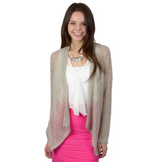 Journee Collection Women's Long Sleeve Open Front Cardigan