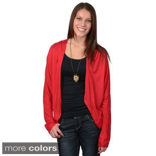 Journee Collection Women's Dolman Sleeve Open Front Cardigan