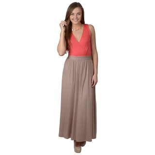 Hailey Jeans Co. Junior's Sleeveless Two-tone Maxi Dress