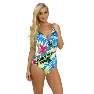 Miraclesuit 'Oceanus' Multicolored Halter One-piece Swimsuit