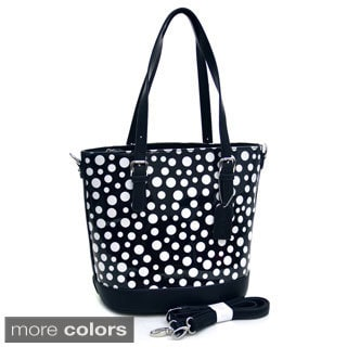 Dasein Tall Polka-dotted Glossy Shoulder Bag