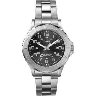 Timex Men's Silvertone Stainless Steel Quartz Watch