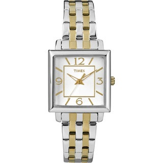 Timex Women's Square Case Two-tone Stainless Steel Watch