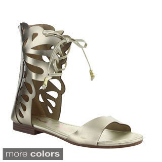 Anna Women's 'Fantacy-2' Cut-out Caged Mid-calf Sandals