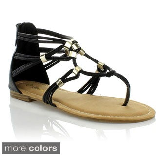 Anna Women's 'Alexis' Strappy Gladiator-inspired Flat Sandals
