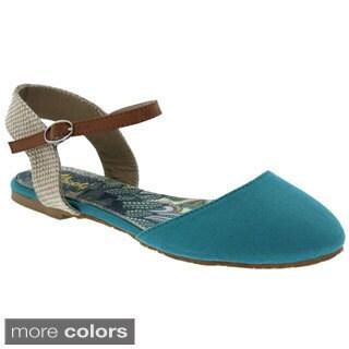 Machi Women's 'Faith-7' Closed Toe Ankle Strap Sandals