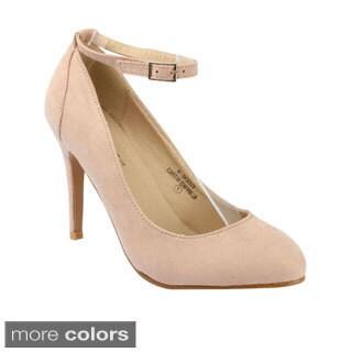 Machi Women's 'Eugene-14' Ankle Strap Stiletto Heels