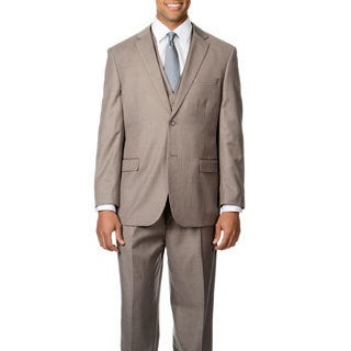 Caravelli Italy Men's 'Superior 150' Light Taupe 3-piece Vested Suit