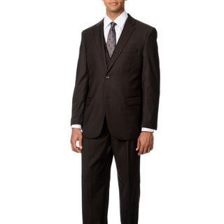 Caravelli Italy Men's Brown Vested Notch Lapel 2-button Suit