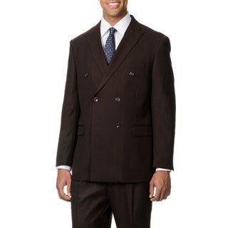 Caravelli Italy Men's Brown Double Breasted 6-on-2-button Suit