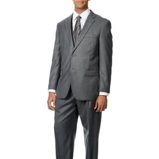 Caravelli Italy Men's 'Superior 150' Grey Shark Pattern 3-piece Vested Suit