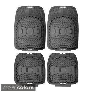 Oxgord A-Style Rugged 4-piece PVC Floor Mat Set