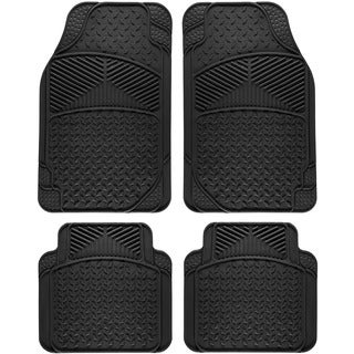 Tail Fin Style Rugged 4-piece PVC Floor Mat Set