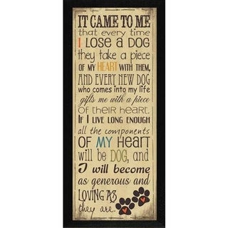 Jo Moulton 'I Heart My Dog' Framed Wall Art