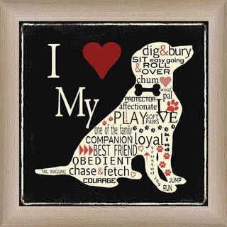 Jo Moulton 'I Love My Dog' Framed Wall Art