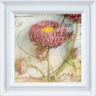 Thea Schrack 'Purple Strawflower I' Framed Wall Art