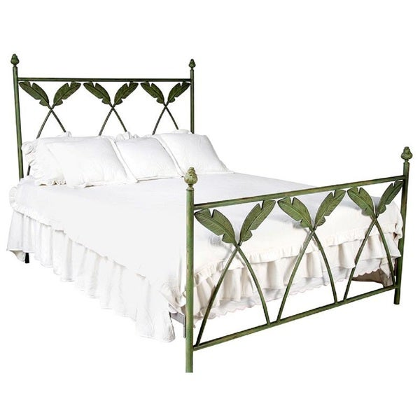 Corsican 42722 Palm Leaf Cast Iron Bed
