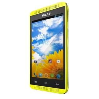 BLU Dash Music 4.0 D272a Unlocked GSM Dual-SIM Yellow Android Phone
