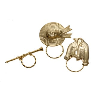 Set of 3 Goldplated Assorted Spectacle Pins