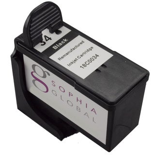 Sophia Global Lexmark 34 Remanufactured Black Ink Cartridge Replacement