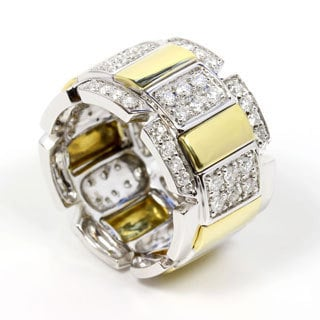 Sonia Bitton 18k Gold Pave Diamond Designer Ring (G-H, SI1-SI2)