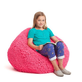 Shag Plush Furniture Bean Bag