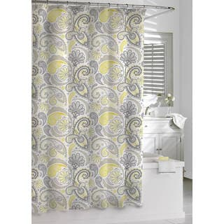 Elegant Paisley Cotton Shower Curtain