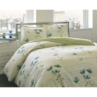 City Scene Surrey Garden Cotton 3-piece Duvet Cover Set
