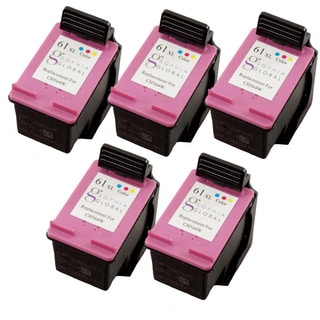 Sophia Global HP 61XL Remanufactured Color Ink Cartridge Replacements (Pack of 5)