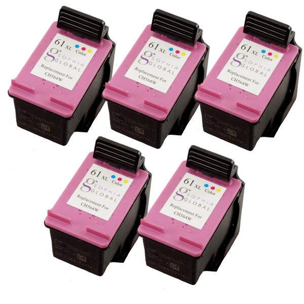 Sophia Global HP 61XL Remanufactured Color Ink Cartridge Replacements (Pack of 5) -  SG5eaHP61XLC
