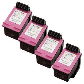 Sophia Global HP 61XL Remanufactured Color Ink Cartridge Replacements (Pack of 4)