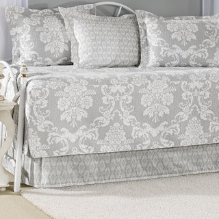 Laura Ashley Venetia Grey 5-piece Cotton Daybed Set