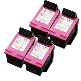 Sophia Global HP 61 Remanufactured Color Ink Cartridge Replacements (Pack of 4)