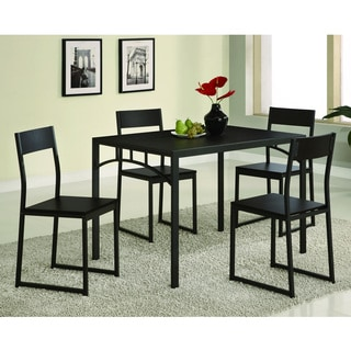 Dark Cappuccino Modern 5-piece Dining Set