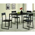 Dark Cappuccino Modern 5-piece Dining Set