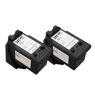 Sophia Global CL-241XL Remanufactured Color Ink Level Display Cartridge Replacements (Pack of 2)
